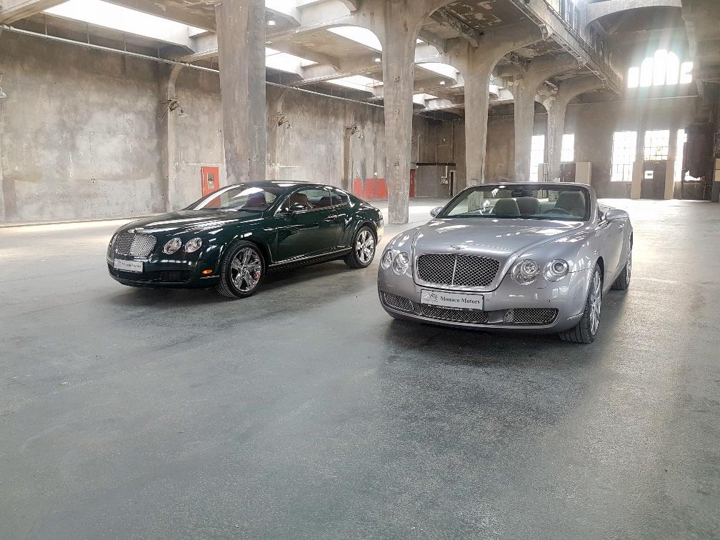 Monaco Motors München - Bentley - silber - grün - Schlafwagenfabrik