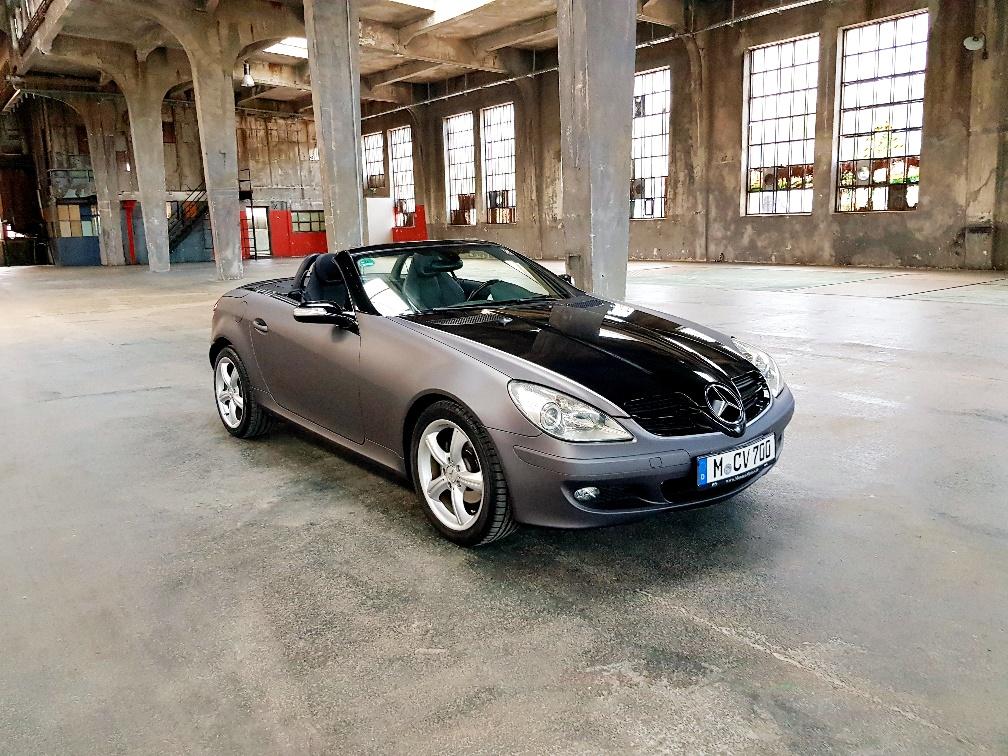 Monaco Motors München - Mercedes - SLK - grau schwarz - foliert