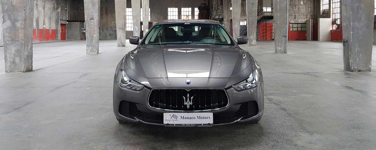 Monaco Motors - Maserati Ghibli - grau - front - Schlafwagenfabrik
